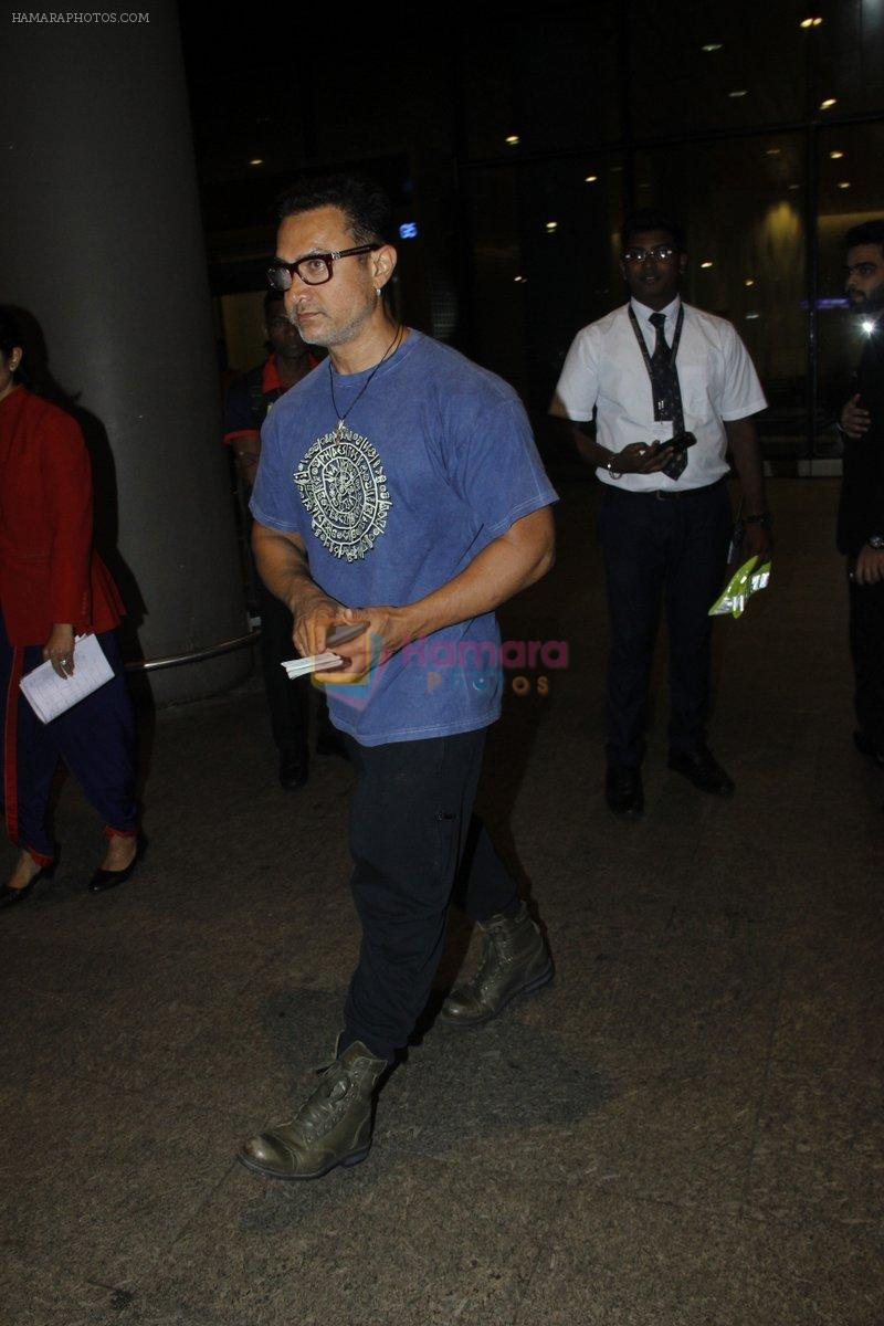Aamir Khan returns from the USA on 12th Aug 2016