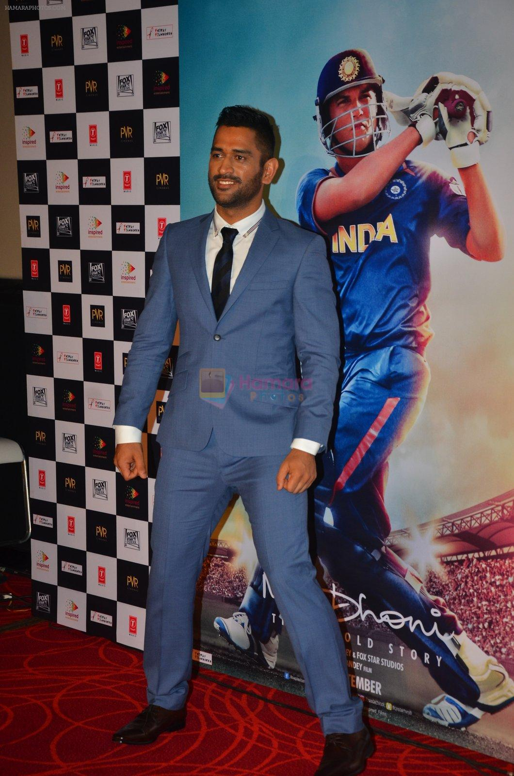 Mahendra Singh Dhoni at M.S.DHONI Movie promo in Juhu on 11th Aug 2016
