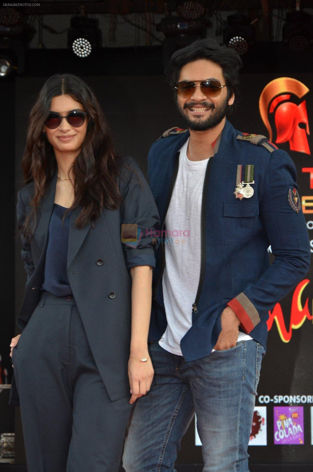 Ali Fazal, Diana Penty at NM college Umang fest in Mumbai on 14th Aug 2016