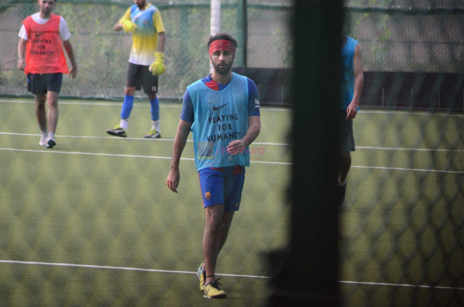 Ranbir Kapoor snapped at soccer match in Mumbai on 14th Aug 2016
