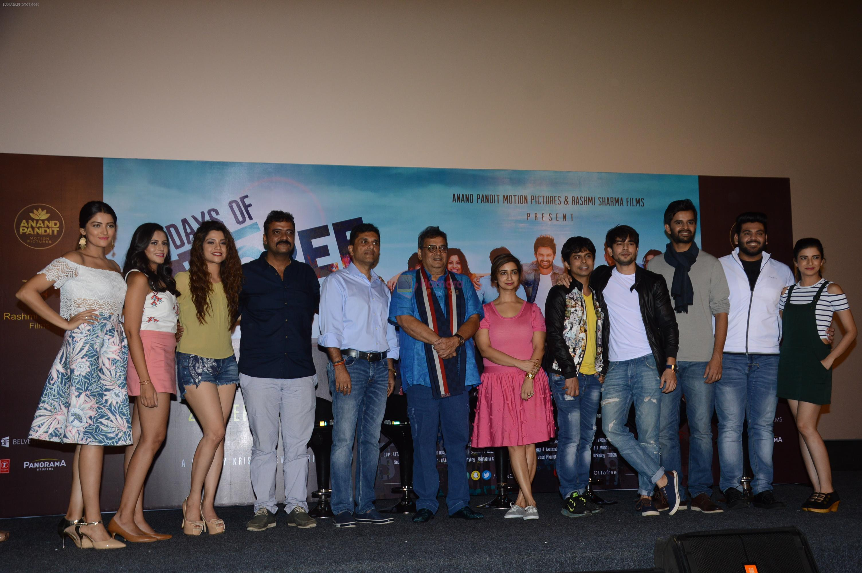 Director Krishnadev Yagnik, Producer Anand Pandit and Rashmi Shama, Cheif Guest Subhash Ghai launched The Trailer of Days of Tafree