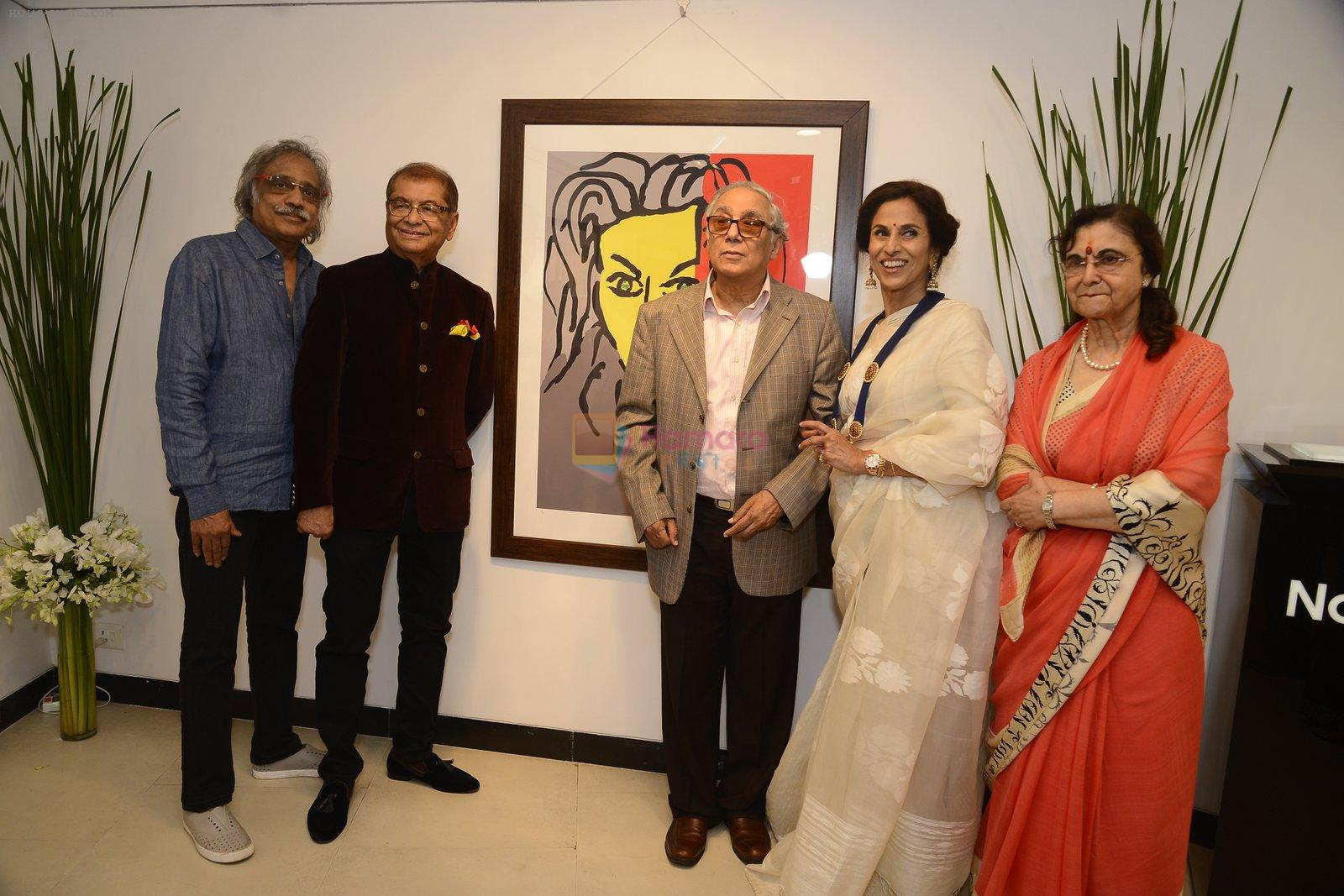 Shobha De at Dilip De's art event on 16th Aug 2016