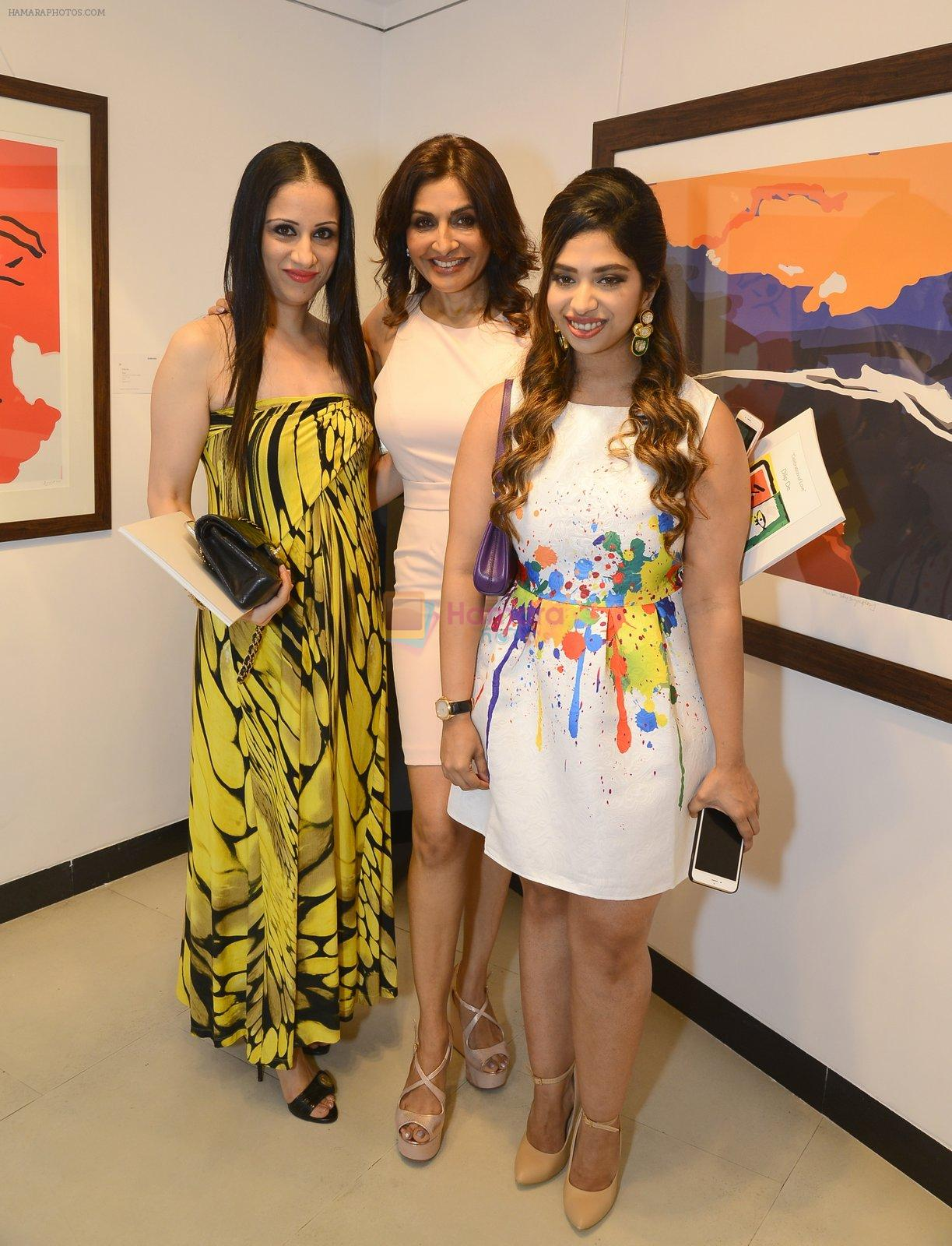 rouble nagi, queenie singh and anandita de at Dilip De's art event on 16th Aug 2016