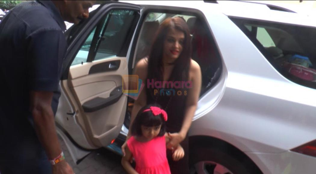 Aishwarya Rai Bachchan at Vidya's kids bday bash on 18th Aug 2016