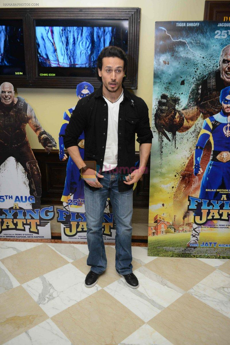 Tiger Shroff at the The Flying Jatt Press Conference in Delhi on 18th Aug 2016
