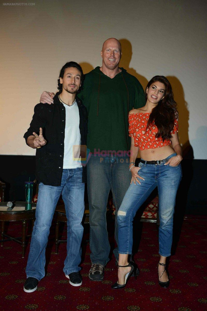 Tiger Shroff, Jacqueline Fernandez, Nathan Jones at the The Flying Jatt Press Conference in Delhi on 18th Aug 2016