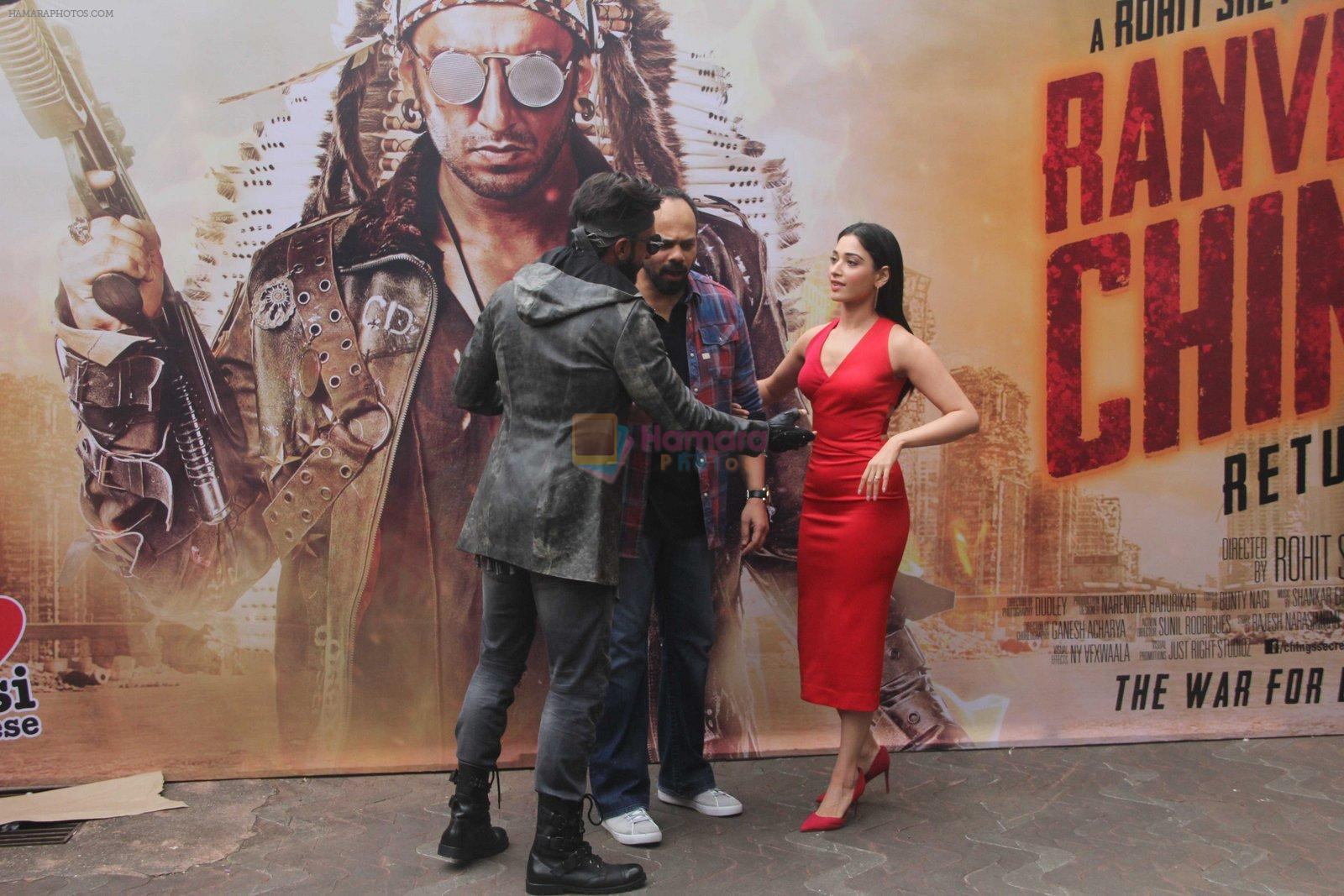 Ranveer Singh, Tamannaah Bhatia, Rohit Shetty promote Ranveer Ching Returns on 19th Aug 2016
