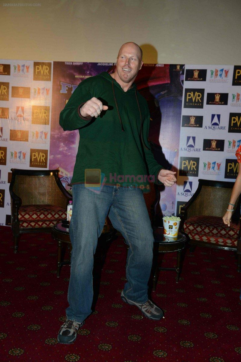 Nathan Jones at the The Flying Jatt Press Conference in Delhi on 18th Aug 2016