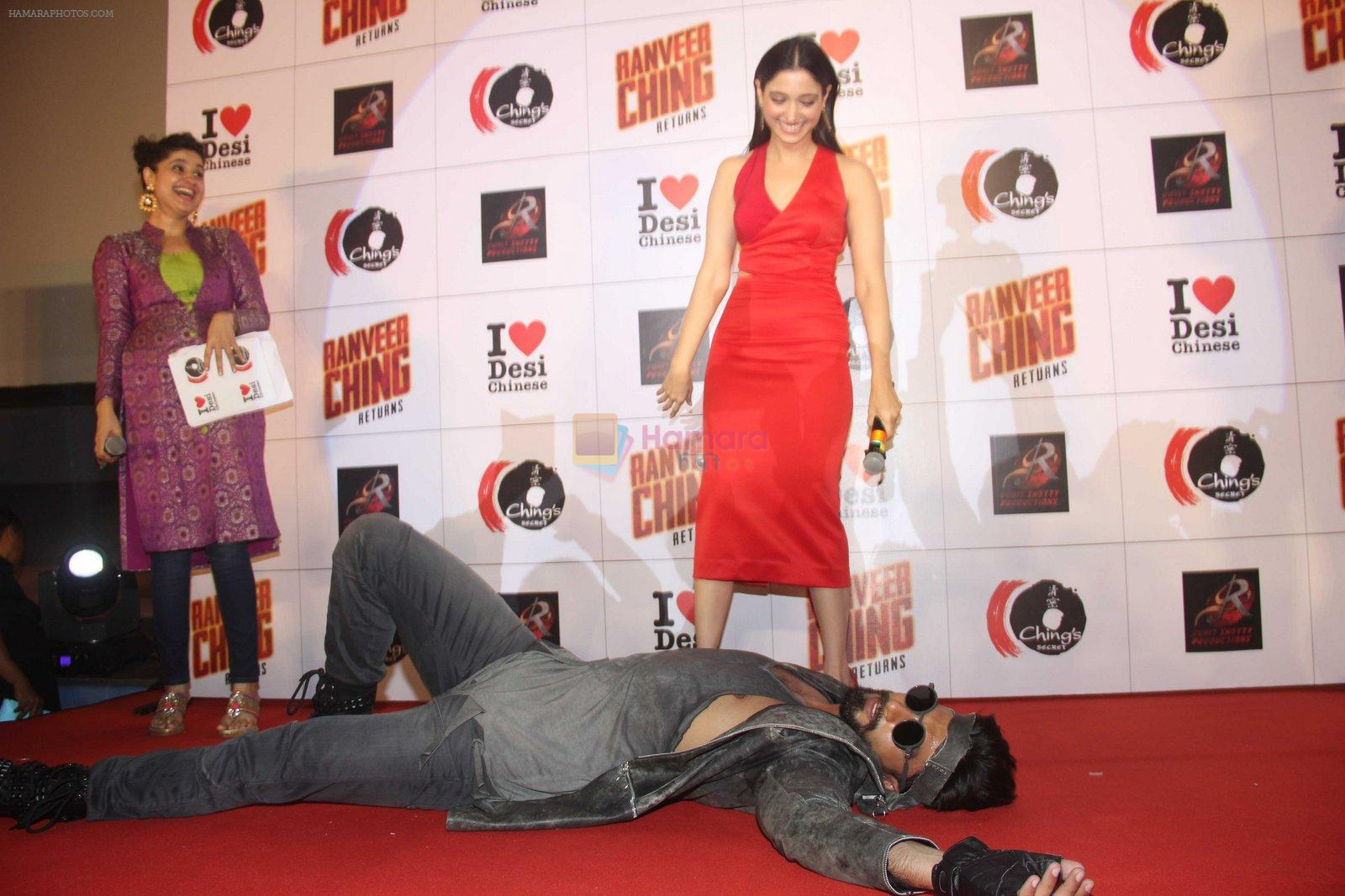 Ranveer Singh, Tamannaah Bhatia promote Ranveer Ching Returns on 19th Aug 2016