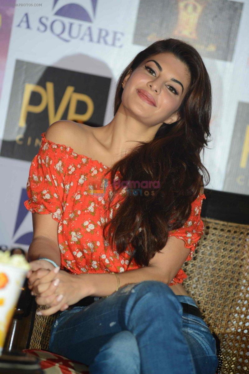 Jacqueline Fernandez at the The Flying Jatt Press Conference in Delhi on 18th Aug 2016