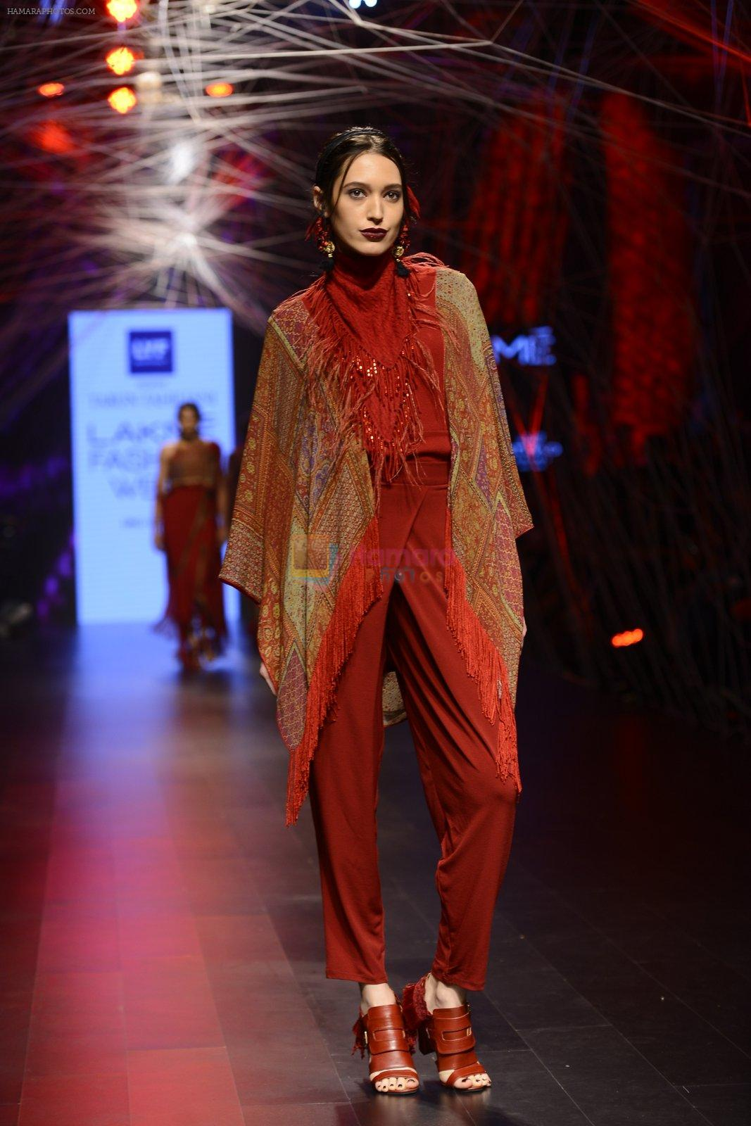 Model walk the ramp for Tarun Tahiliani Show at Lakme Fashion Week 2016 on 23rd Aug 2016