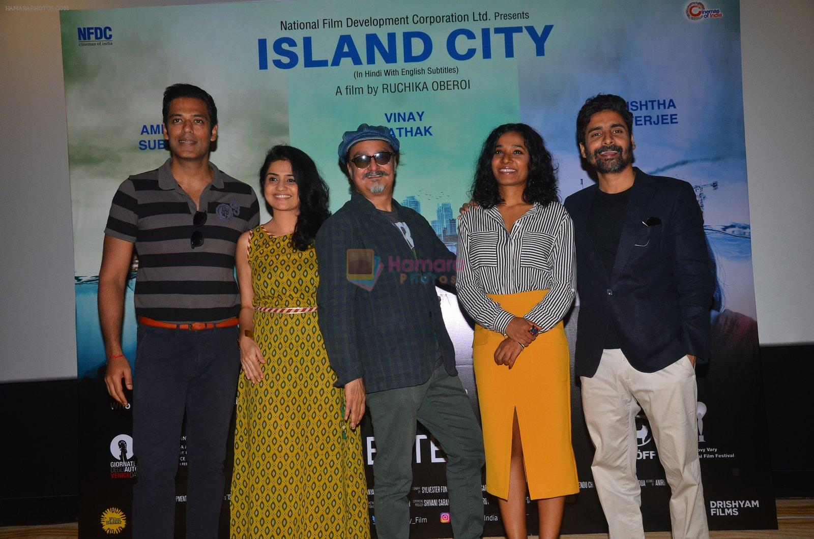 Amruta Subhash, Vinay Pathak, Tannishtha Chatterjee, Samir Kochhar at Island City press meet on 24th Aug 2016