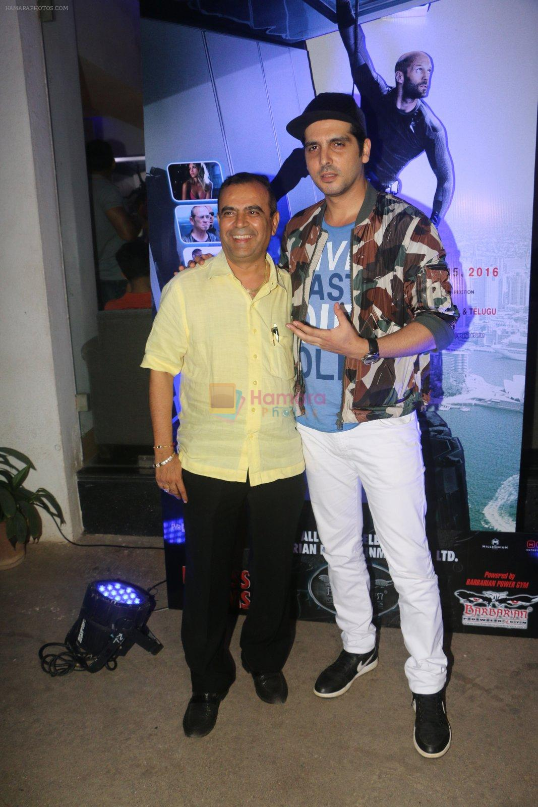 Zayed Khan at Mechanic Ressurection screening on 25th Aug 2016