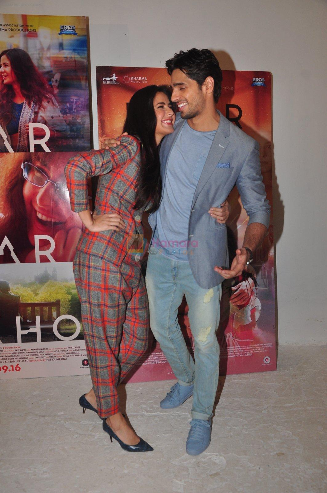 Katrina Kaif, Sidharth Malhotra promote Bar Bar Dekho in Mumbai on 27th Aug 2016
