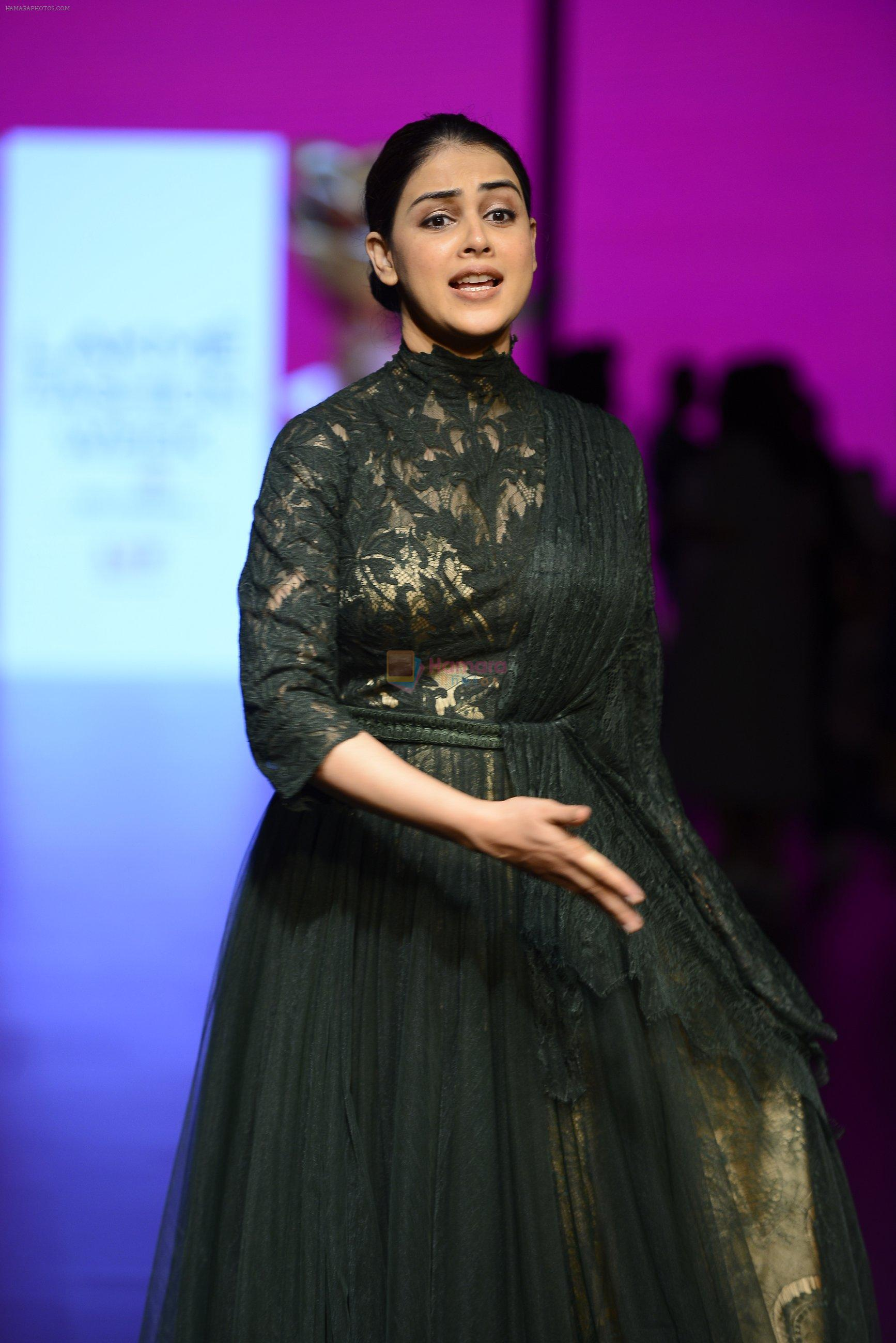 Genelia D Souza walk the ramp for Shantanu and Nikhil Show at Lakme Fashion Week 2016 on 27th Aug 2016