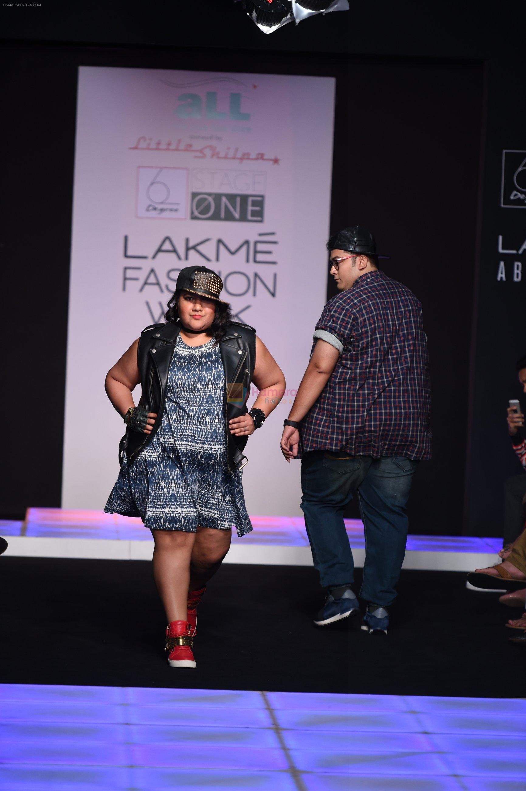 Model walk the ramp for Little Shilpa Show at Lakme Fashion Week 2016 on 28th Aug 2016