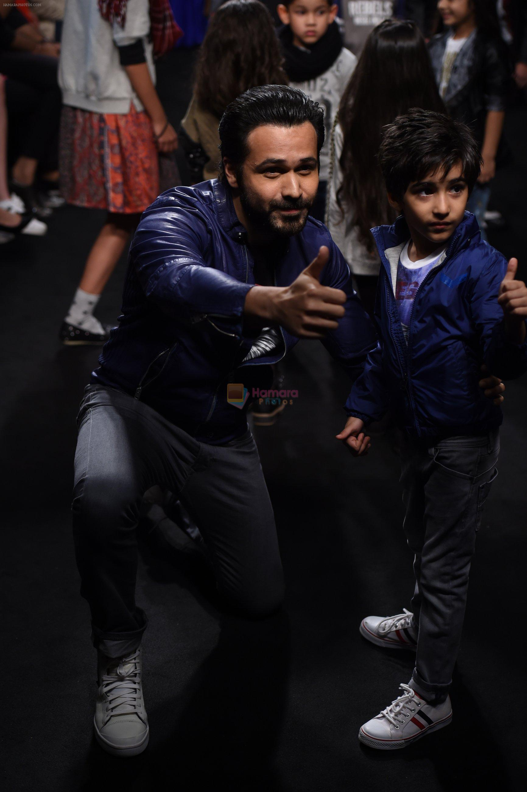 Emraan Hashmi walk the ramp for The Hamleys Show styled by Diesel Show at Lakme Fashion Week 2016 on 28th Aug 2016