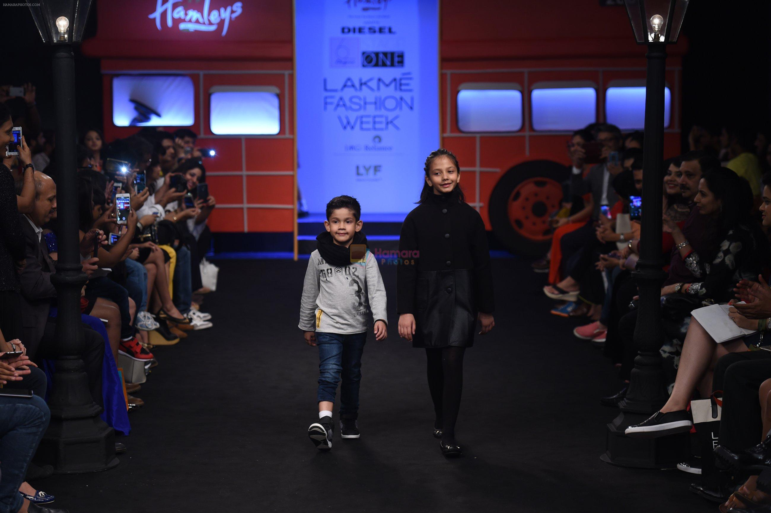 Model walk the ramp for The Hamleys Show styled by Diesel Show at Lakme Fashion Week 2016 on 28th Aug 2016