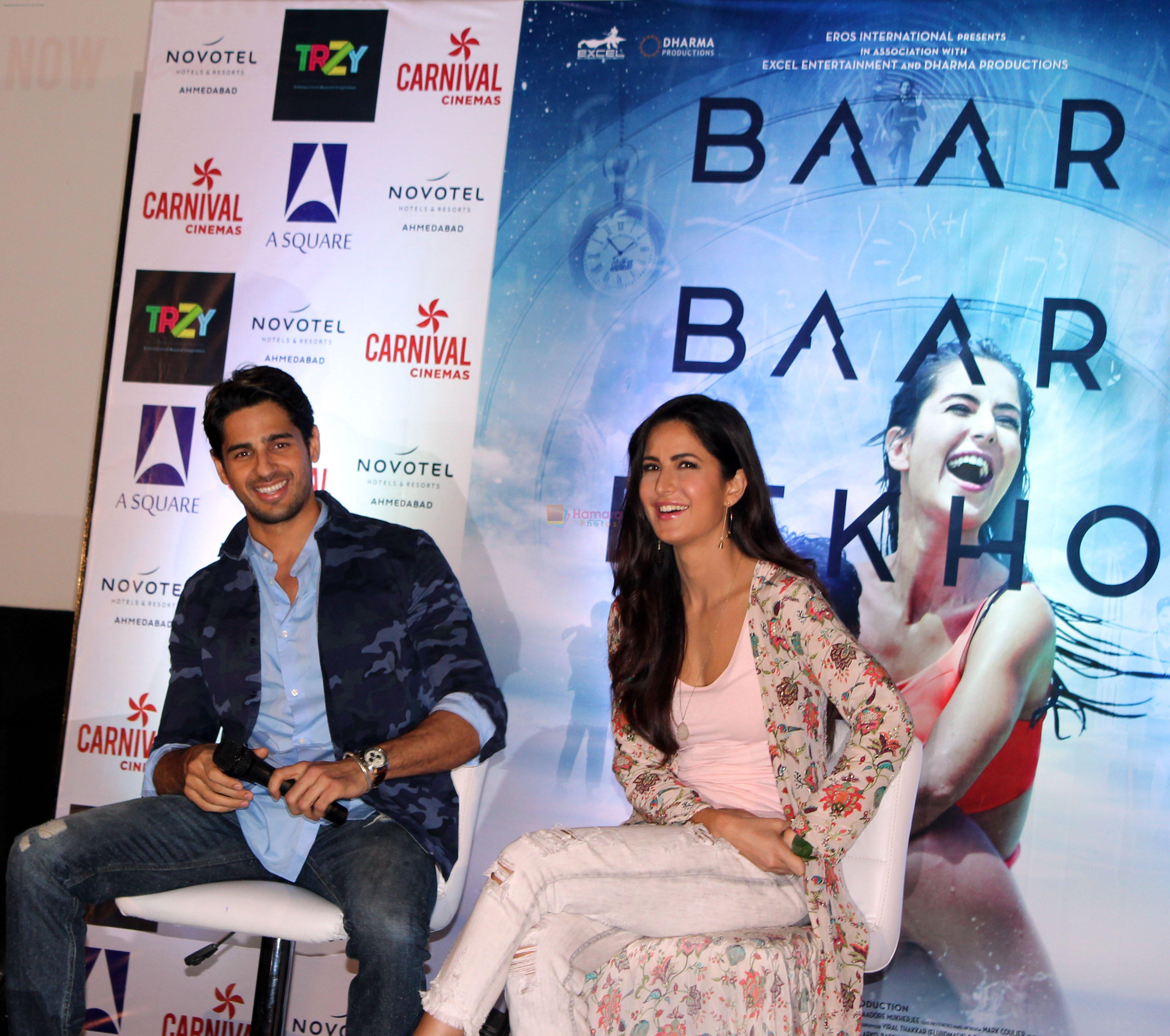 Katrina Kaif and Sidharth Malhotra promote Baar Baar Dekho in Ahmedabad at Carnival Cinemas on 30th Aug 2016