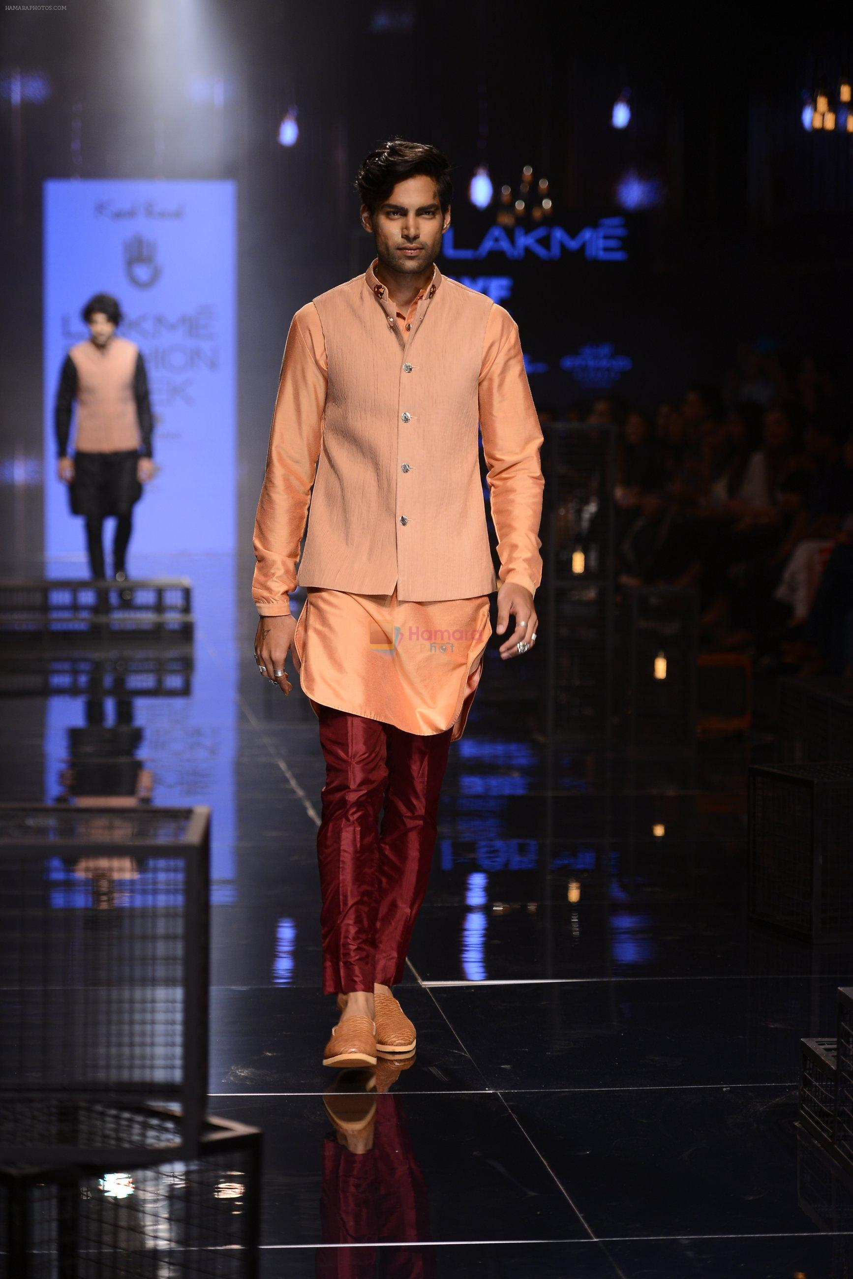Model walk the ramp for Kunal Rawal Show at Lakme Fashion Week 2016 on 28th Aug 2016