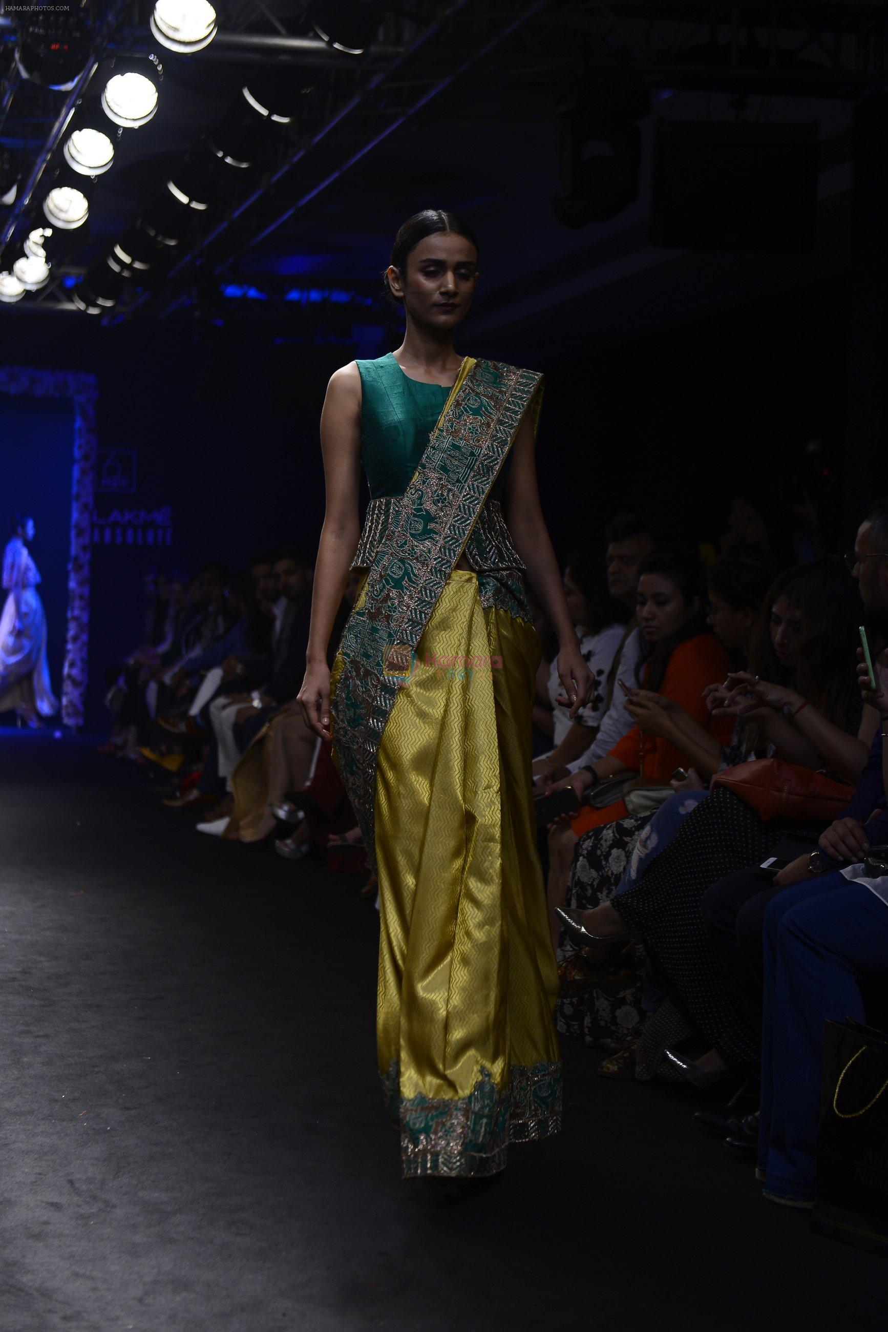 Model walk the ramp for Architha Narayanam Show at Lakme Fashion Week 2016 on 28th Aug 2016