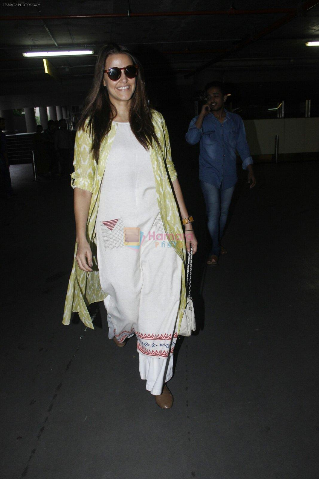 Neha Dhupia snapped at airport on 30th Aug 2016