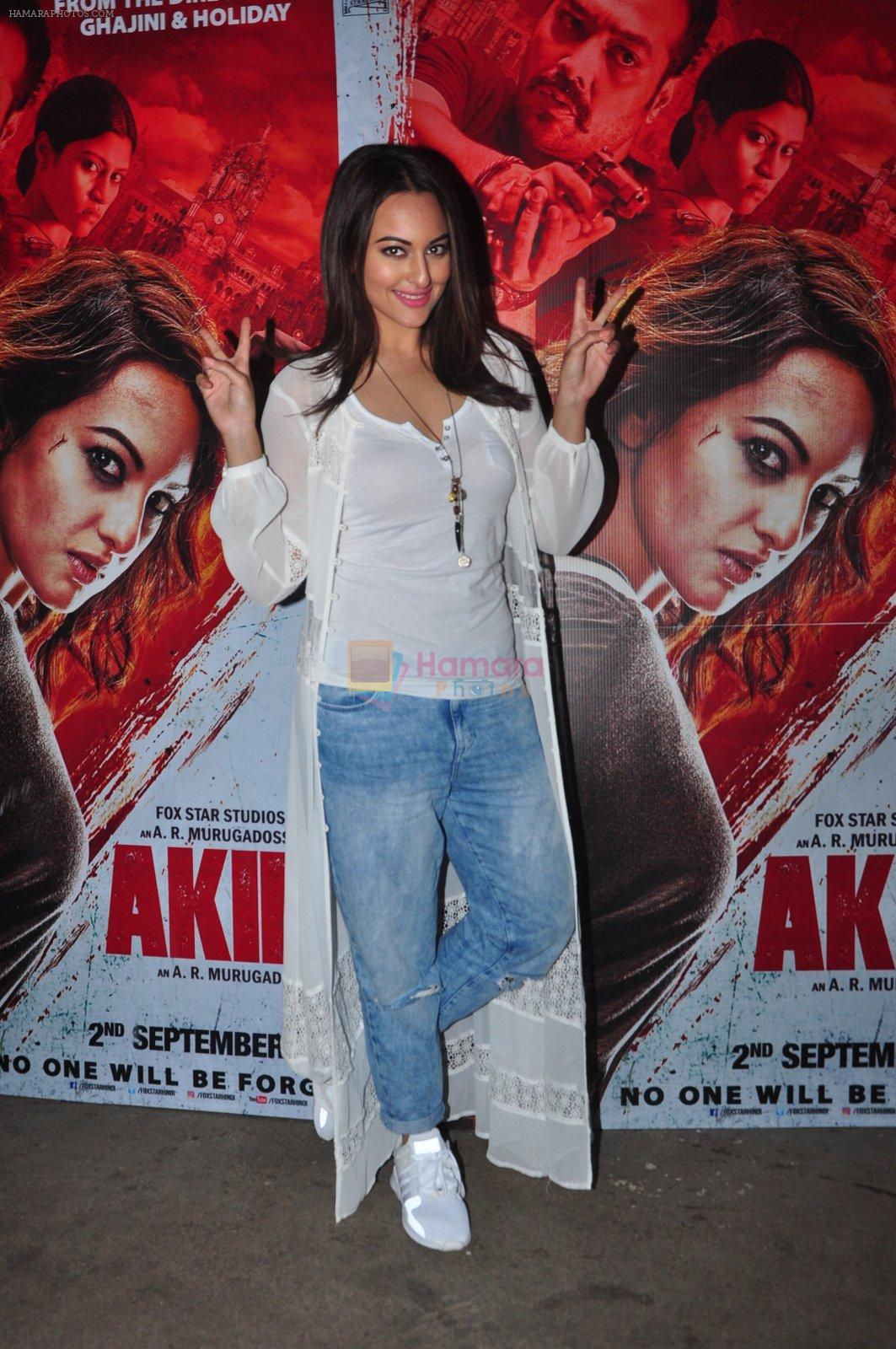 Sonakshi Sinha at Akira screening on 31st Aug 2016