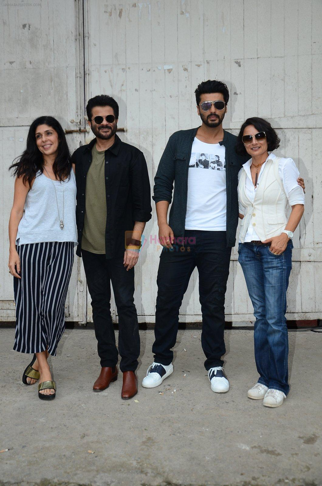 Anil Kapoor, Arjun Kapoor, Adhuna Akhtar snapped at Mehboob on 31st Aug 2016