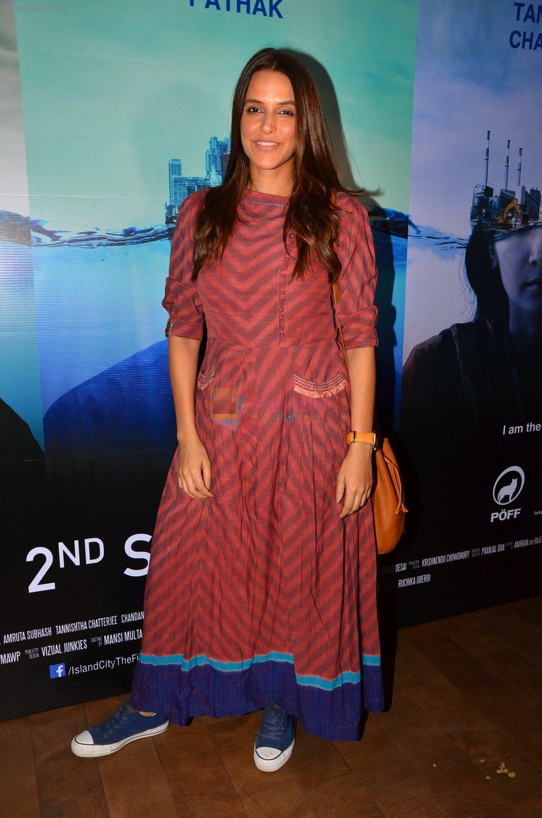 Neha Dhupia at Island City screening on 31st Aug 2016