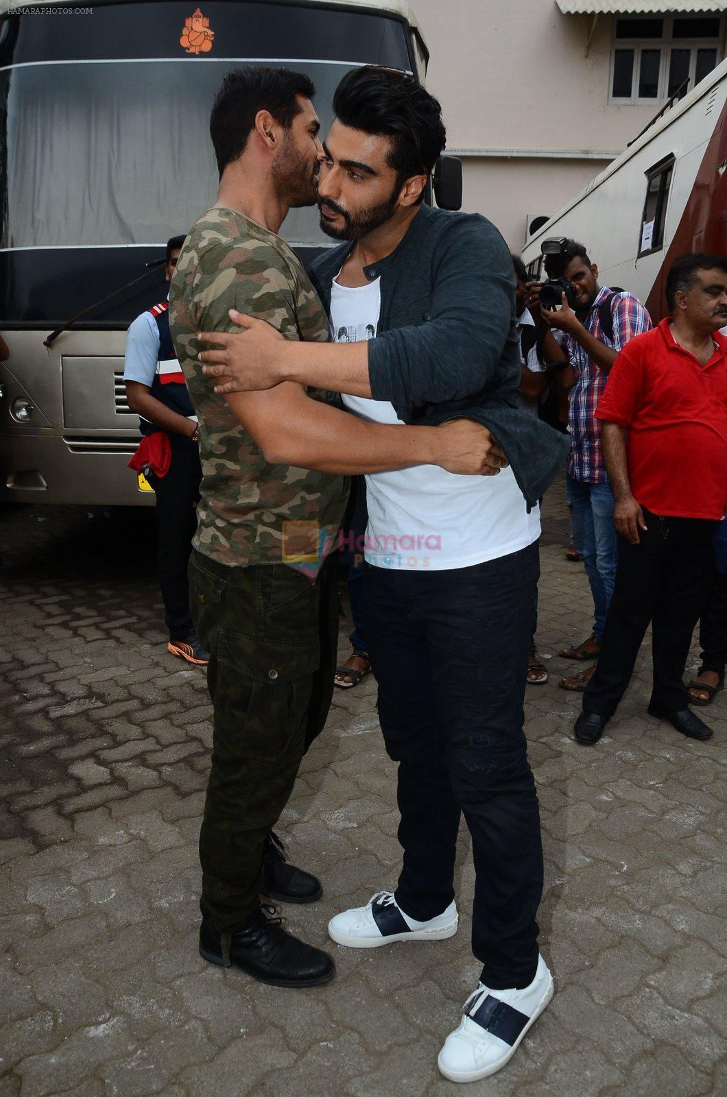 John Abraham, Arjun Kapoor snapped at Mehboob on 31st Aug 2016
