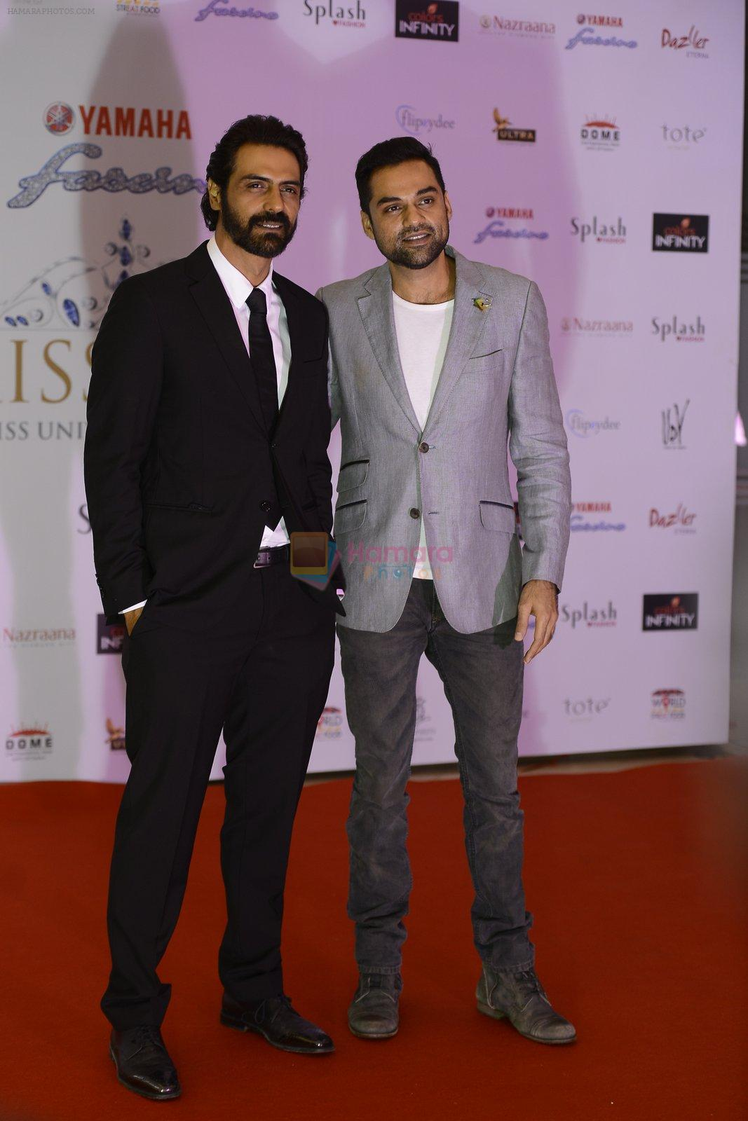Arjun Rampal, Abhay Deol at Miss Diva Auditions on 1st Sept 2016
