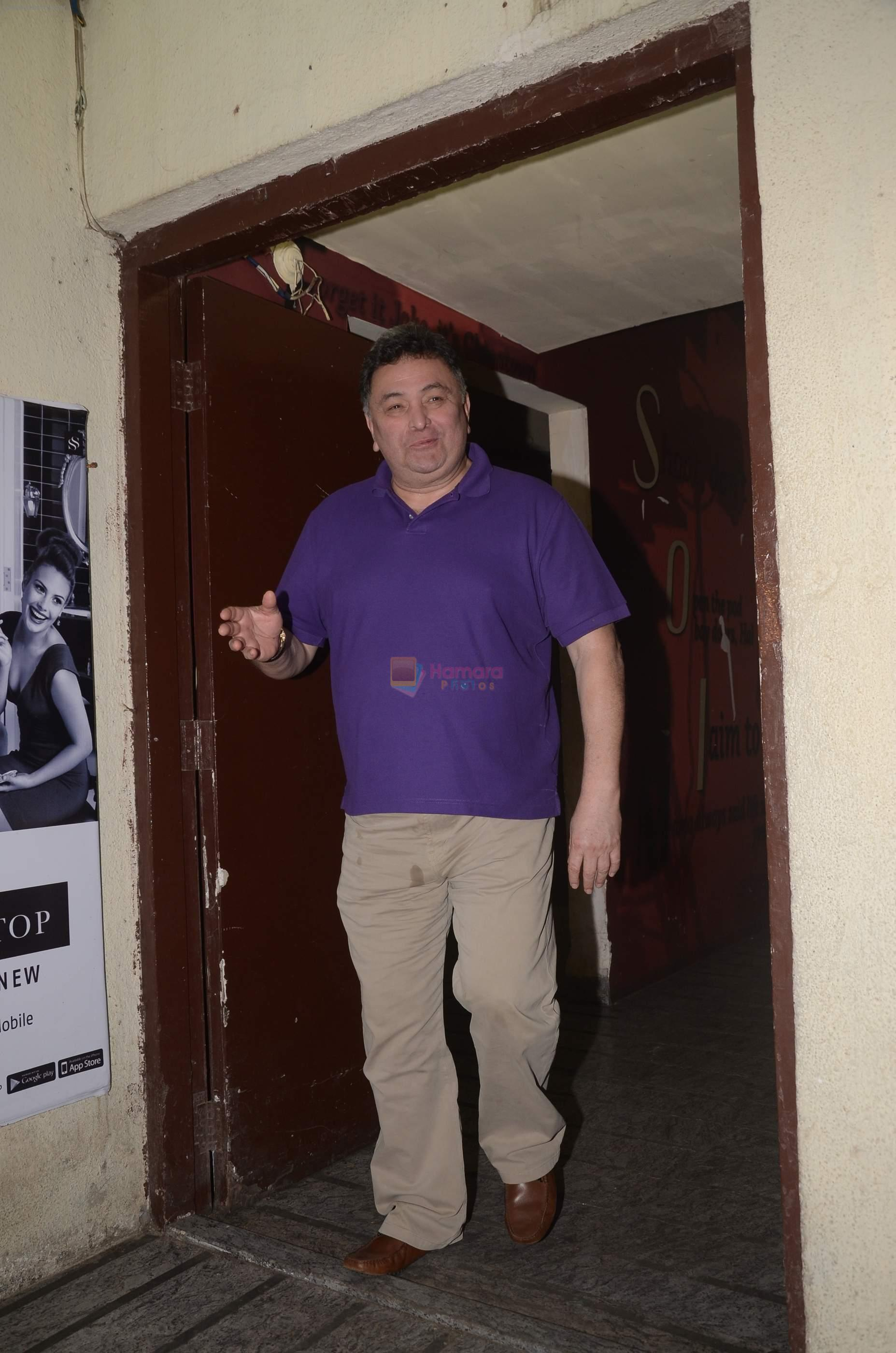 Rishi Kapoor mobbed by fans at juhu pvr on 1st Sept 2016