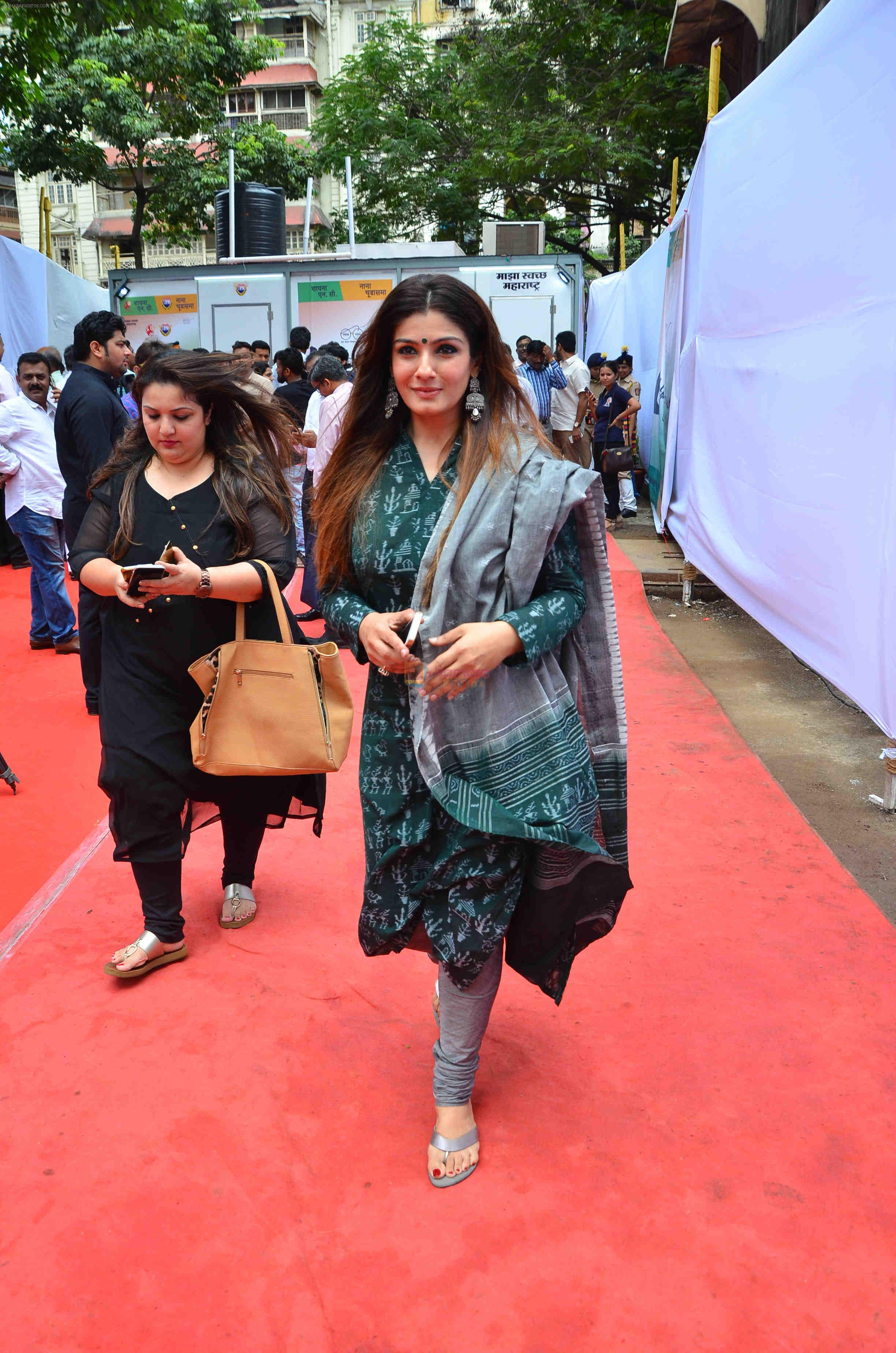 Raveena Tandon at event where toilets for police were launched on 2nd Sept 2016
