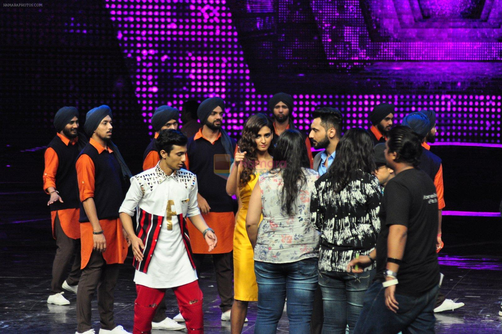 on the sets of Star Plus's Dance Plus on 4th Sept 2016