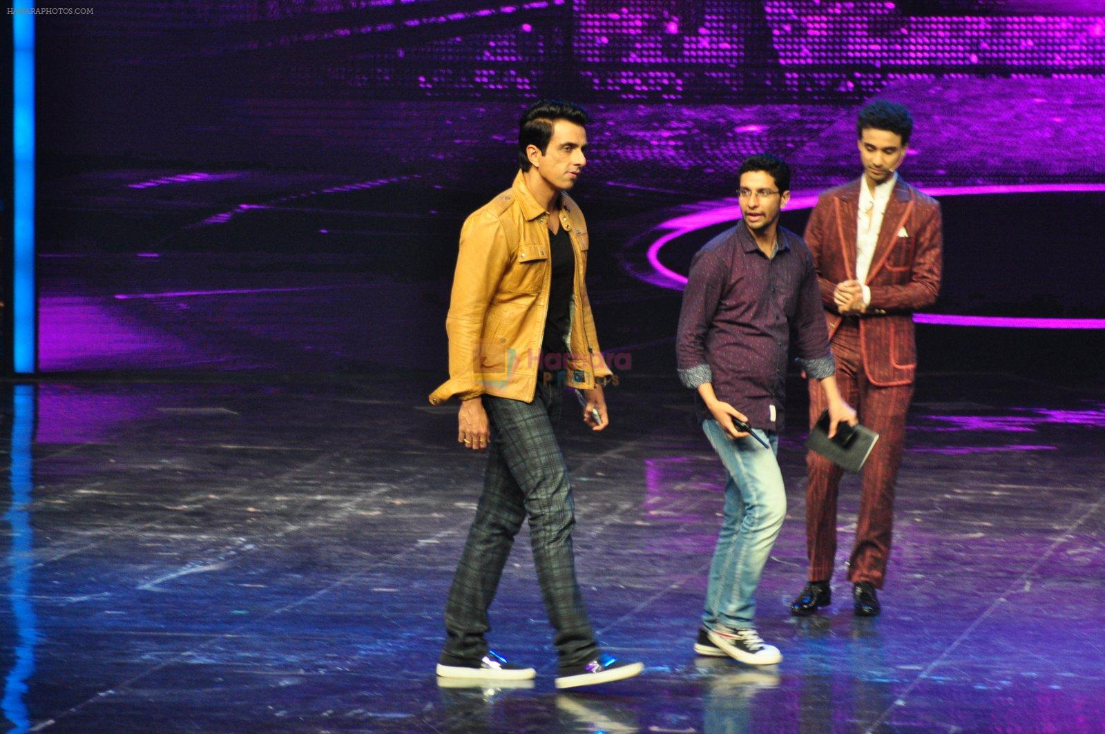 Sonu Sood on the sets of Star Plus's Dance Plus on 4th Sept 2016