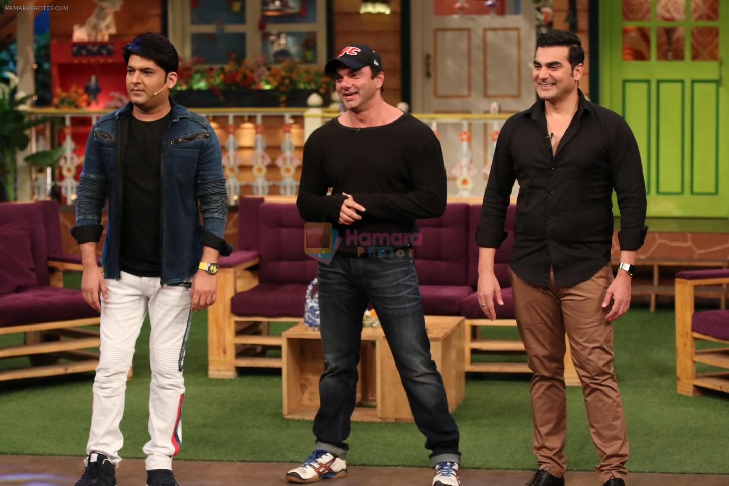 Khan brothers on the sets of The Kapil Sharma Show