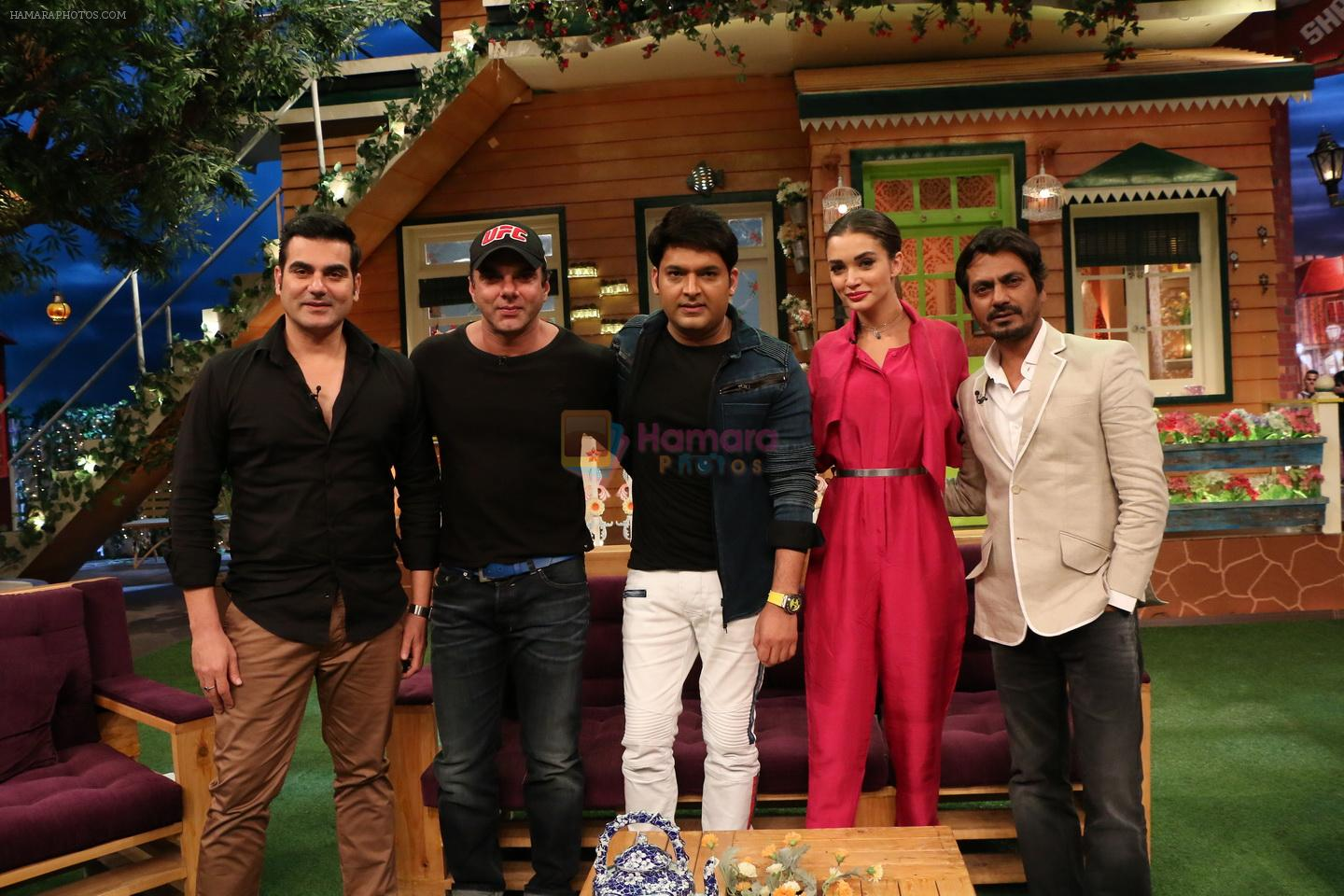The cast of Freaky Ali on the sets of The Kapil Sharma Show in MUMBAI