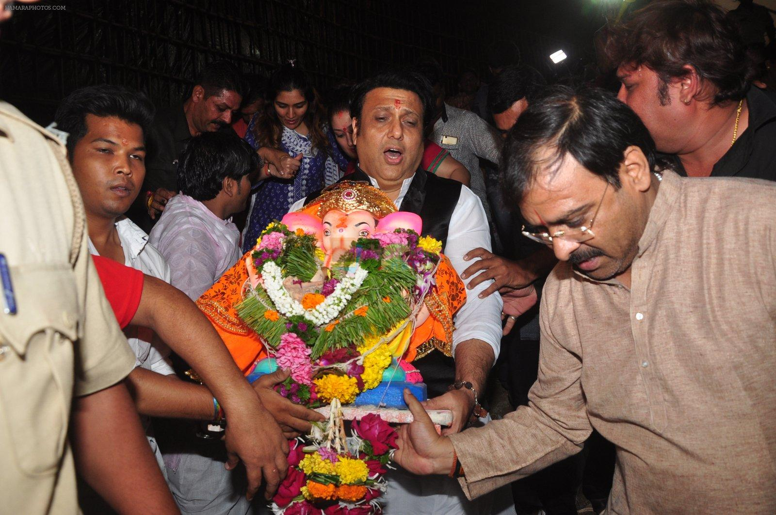 Govinda's Ganpati Visarjan on 6th Sept 2016