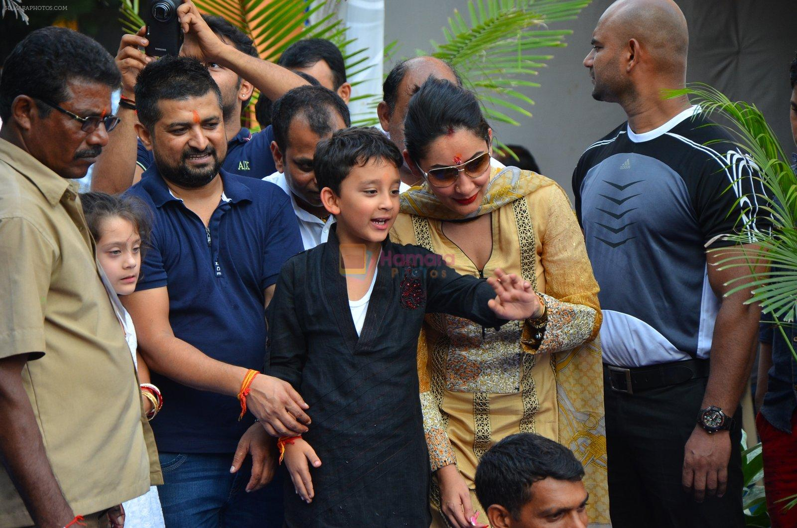 Manyata Dutt's Ganpati Visarjan on 6th Sept 2016