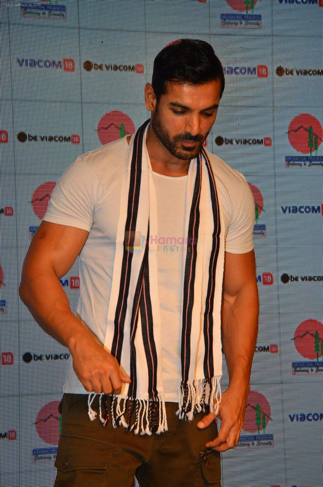 John Abraham during a tourism program for the North East Indian state of Arunachal Pradesh in Mumbai on 6th Sept 2016