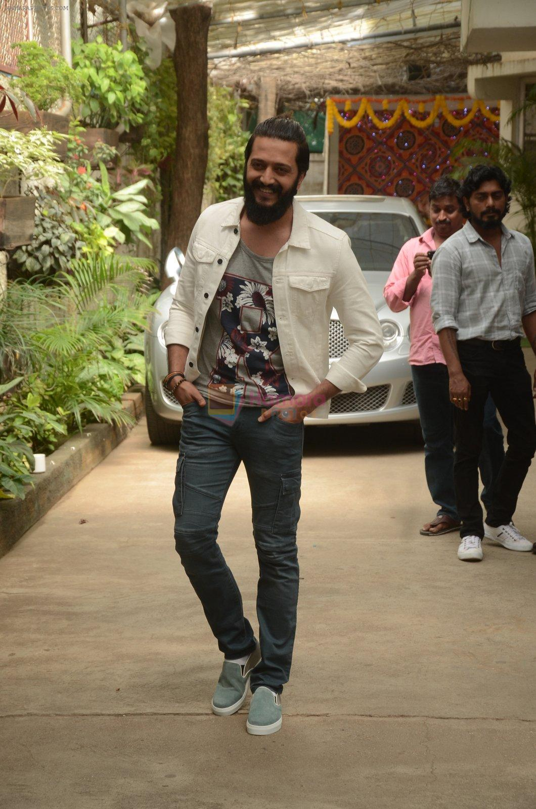 Riteish Deshmukh at Banjo Recording on 6th Sept 2016