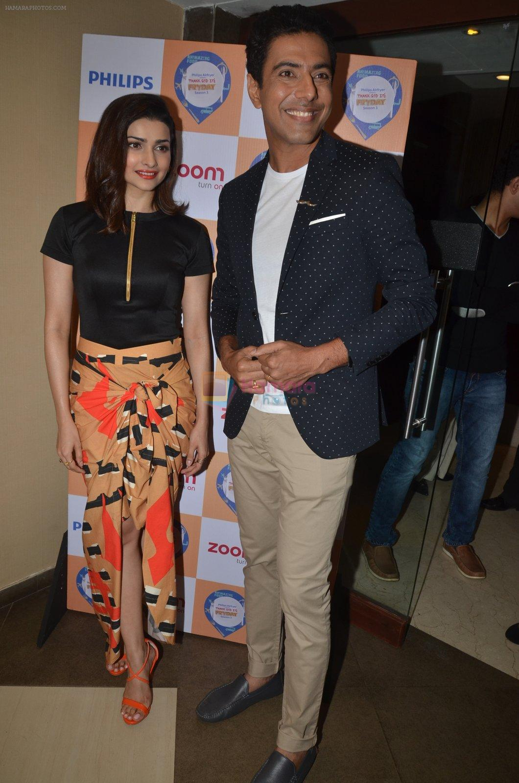 Prachi Desai with Chef Ranveer Brar at the press conference to announce the launch of Thank God It's Fryday 3.0 in Mumbai on 8th Sept 2016