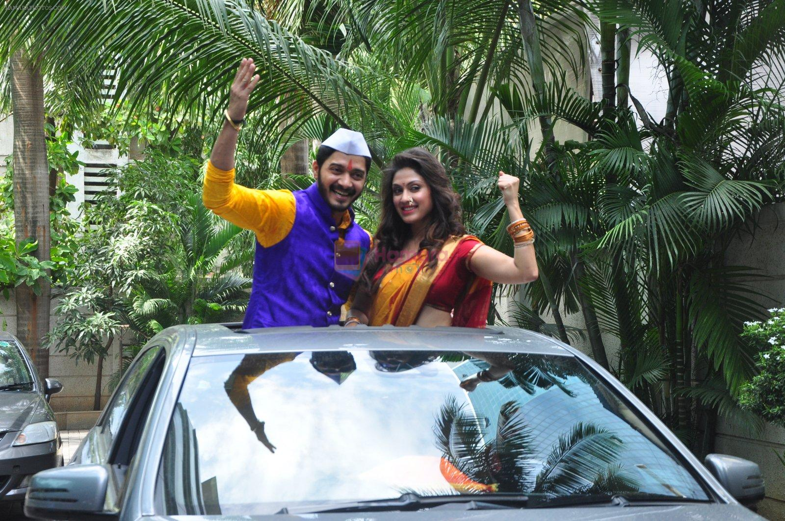 Shreyas Talpade and Manjari Fadnis during the trailer launch of film Wah Taj in Mumbai on 7th Sept 2016