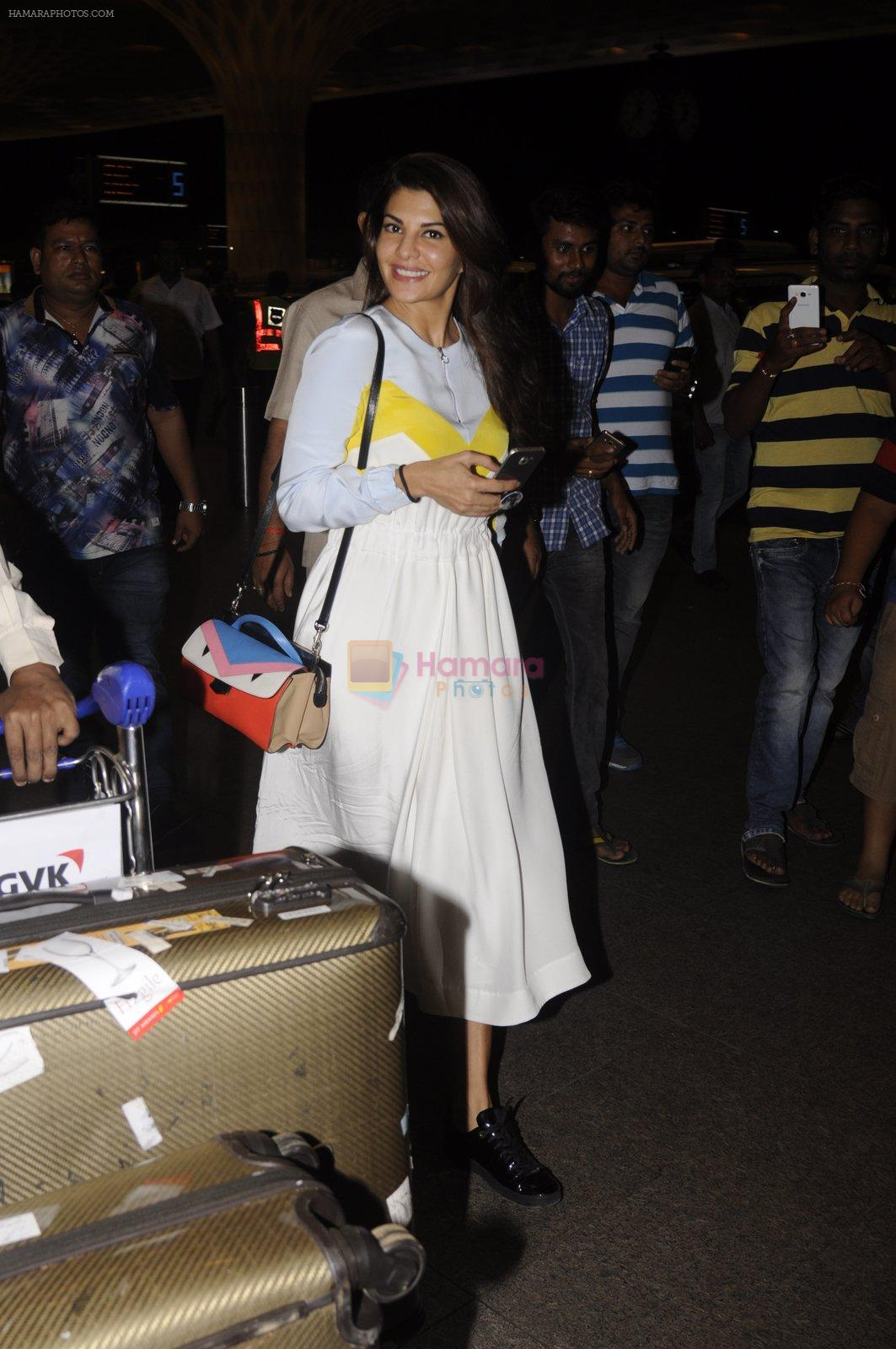 Jacqueline Fernandez snapped at airport on 7th Sept 2016