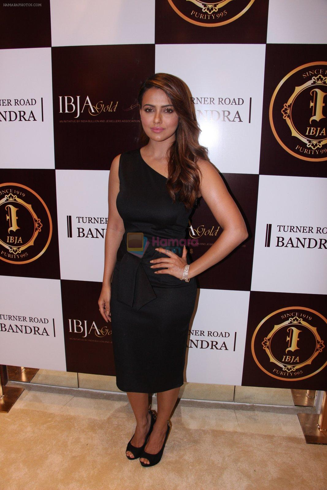 Sana Khan during the launch of India's first customized gold coin store IBJA Gold, in Mumbai on 7th Sept 2016