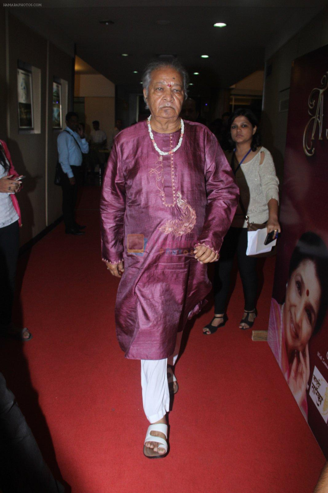 Pandit Hariprasad Chaurasia during the musical concert Timless Asha organised by Zee Classsic on occasion of Bollywood singer Asha Bhosle 83rd birthday in Mumbai, India on September 8, 2016  (