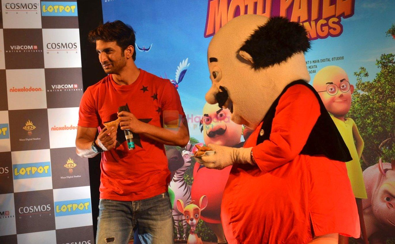 Sushant Singh Rajput supports Motu Patlu 3d film on 8th Sept 2016