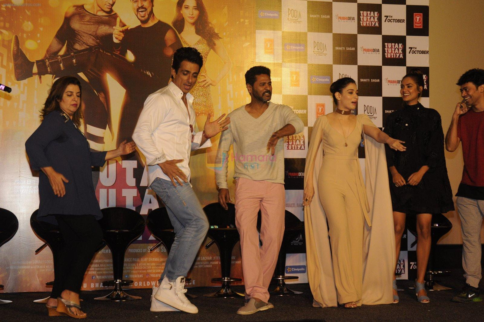 Sonu Sood, Farah Khan,Tamannaah Bhatia, Esha Gupta, Prabhu Deva launch Tutak Tutak Tutiya in Mumbai on 8th Sept 2016