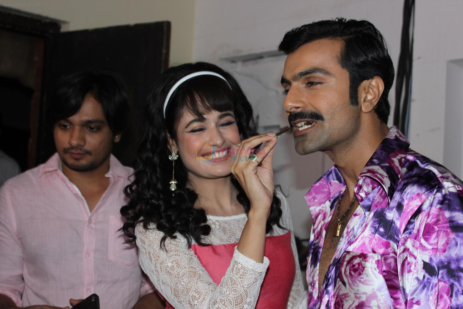 Yuvika Chaudhary, Ashmit Patel on the sets of Ek Maa Jo Ban Gayi Lakho Ke Liye Amma on Zee