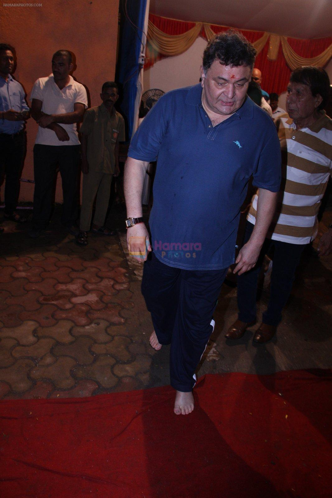 Rishi Kapoor Ganpati Visarjan on 9th Sept 2016